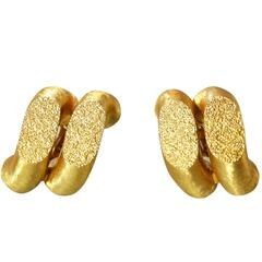 Buccellati Gold Torchon Earclips