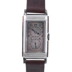 Gruen Gold Stainless Steel Alloy Doctor's Wristwatch, circa 1930s