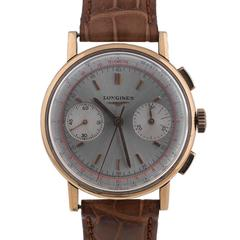 Longines Rose Gold 30CH Movement Chronograph Wristwatch