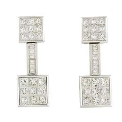 Mouawad 4.20 Carat Diamonds White Gold Earrings