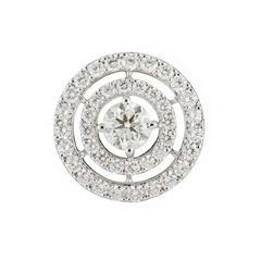 Double Halo Diamond Pendant 1.24 Carat