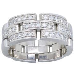 Cartier Maillon Panthère Diamond White Gold Ring