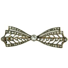 Victorian Diamond Gold Brooch