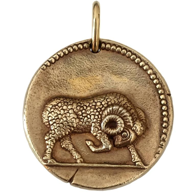 Van cleef and arpels aries yellow gold zodiac pendant at 1stdibs van cleef arpels aries yellow gold zodiac pendant 1 mozeypictures Images