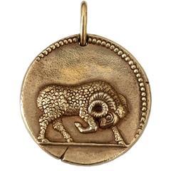 Van Cleef & Arpels Aries Yellow Gold Zodiac Pendant