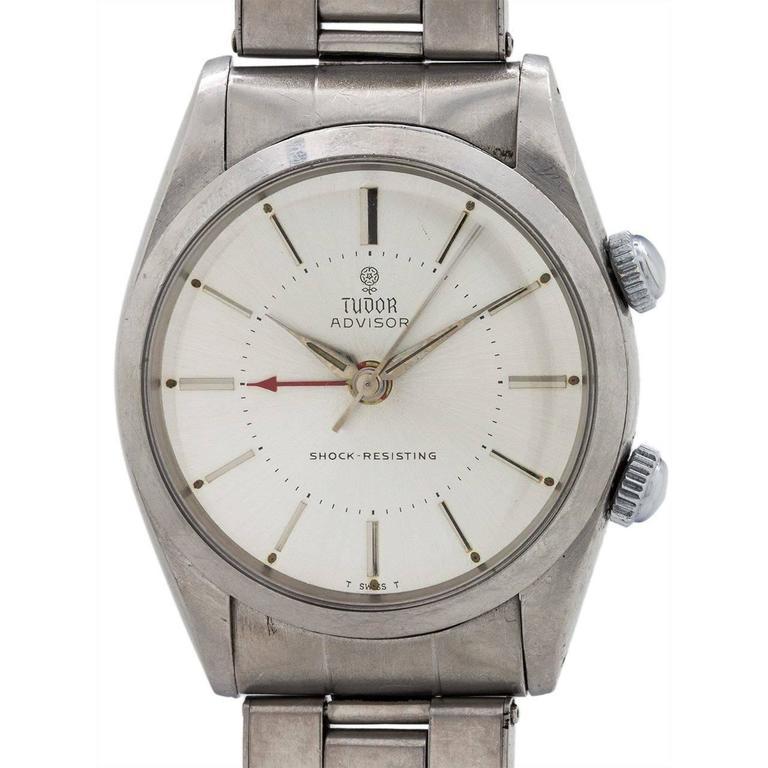 Tudor Stainless Steel Advisor Alarm Ref 7926 Wristwatch, circa 1966