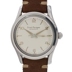 Girard Perregaux Stainless Steel Bombe Gyromatic Automatic Wristwatch circa 1950