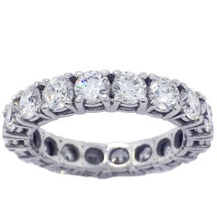Berca 2.70 Carat Brilliant Cut White Diamond White Gold Eternity Ring Band