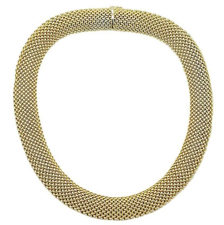 Woven Style Yellow Gold Necklace