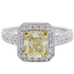 Platinum 2.74 Carat Diamond Gold Platinum Engagement Ring