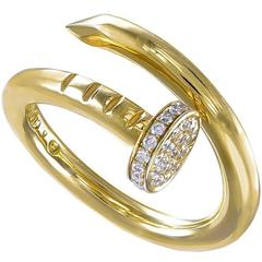Aldo Cipullo Diamond Gold Nail Ring