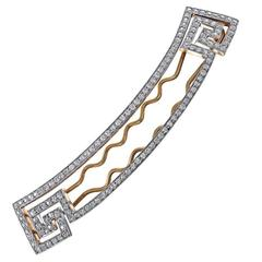 Diamond Gold and Platinum Barrette by BLACK STARR AND FROST