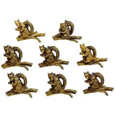 Tiffany & Co. Sterling Silver Vermeil Squirrel Place Card Holders