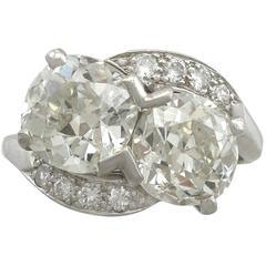 1950s 5.36 Carat Diamond and Platinum Twist Ring