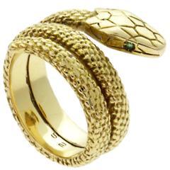 Cartier Snake Emerald Gold Ring