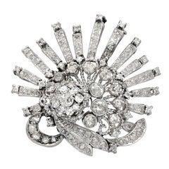 2.48 Carat 1840s Early Victorian Era Diamond Brooch Pin