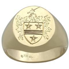 1990s Yellow Gold Men's Signet Ring