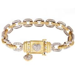 Stambolian Diamond Link Bracelet with Hearts