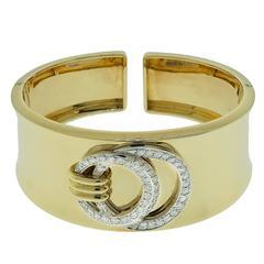 Diamond Gold Cuff bracelet