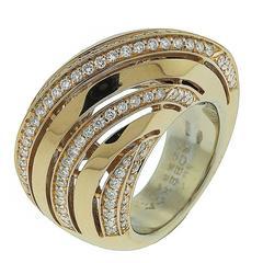 Roberta Poratti Diamond 18 Karat Domed Rose Gold Ring