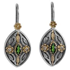 Madison Tsavorite and Diamond Earrings