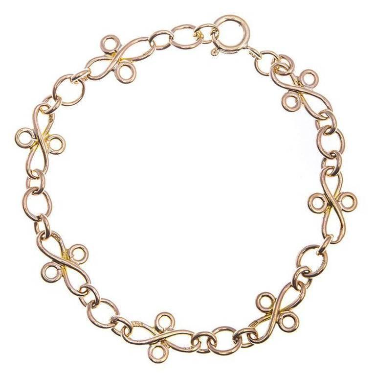 1940s Fancy Gold Bracelet