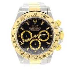Rolex Yellow Gold Stainless Steel Daytona Wristwatch Ref 16523