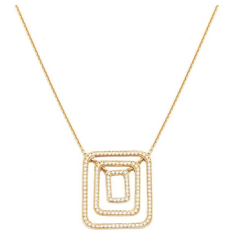 mimi so yellow gold swing necklace for sale