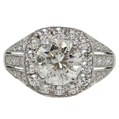 2.29 Carat Diamond Platinum Engagement Ring