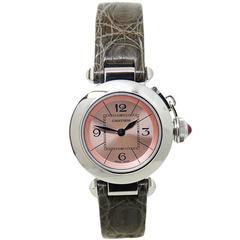 Cartier Ladies Stainless Steel Miss Pasha Quartz Wristwatch