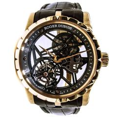 Roger Dubuis Excalibur Skeleton Flying Tourbillon in Rose Gold