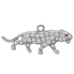 Diamond Platinum Panther Charm