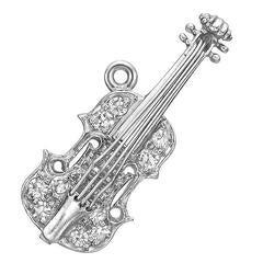 Tiffany & Co. Platinum Diamond Violin Charm