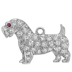 Diamond Platinum Scottie Terrier Charm
