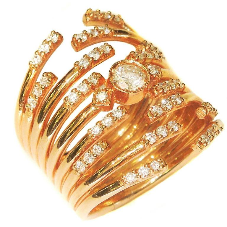Diamond Pink Gold Ring