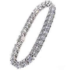 Exquisite Diamond Platinum Line Bracelet