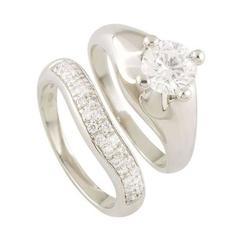 Bulgari Corona Diamond Bridal Set 1.00 Carat