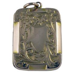 Art Nouveau Antique Locket, Hallmarked 9 Carat Gold, Birmingham, 1909