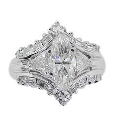 Marquise Diamond White Gold Ring