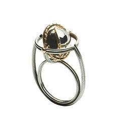 Elie Top Mecanique Celeste Bague MIR Or, Argent, Diamants