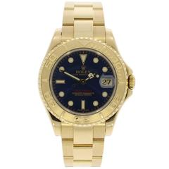 Rolex Yellow Gold Yachtmaster Wristwatch Ref 168628