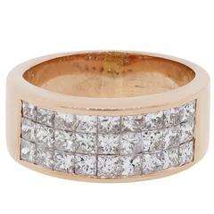 1.50 Carat Princess Cut Diamond Rose Gold Ring