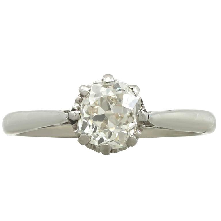 1920s Diamond White Gold Platinum Set Engagement Ring