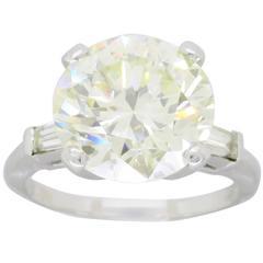 5.70 Carat Round Brilliant Cut Diamond and Platinum Engagement Ring