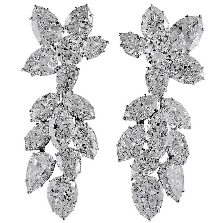 1960s Harry Winston Diamond Platinum Earrings