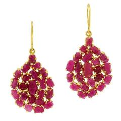 Invisible Collection Ruby Gold Earrings
