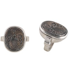 Antique Late 16th Century German Silver Signet Ring