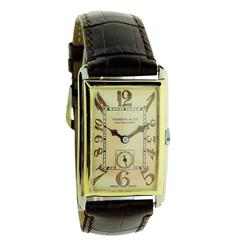 Shreve & Co. Yellow and White Gold Manual Wind Art Deco Wristwatch