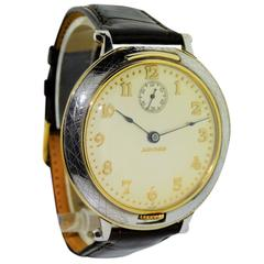 Movado yellow Gold Sterling Silver Oversized Manual Winding Wristwatch