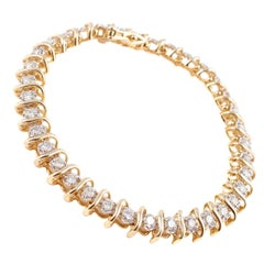 2.25 Carat Diamond Gold Tennis Bracelet